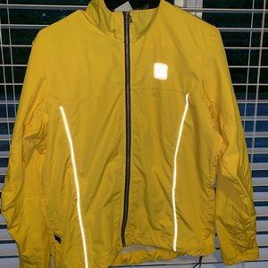 Bright yellow biker jacket